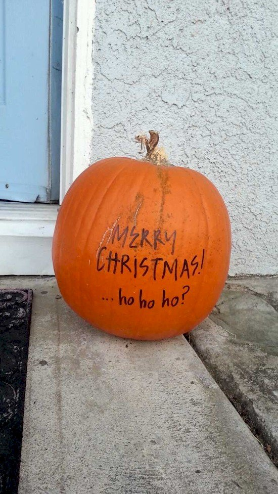pumpkin christmas decoration