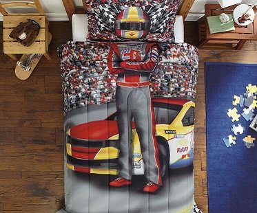 racing driver bedding set car