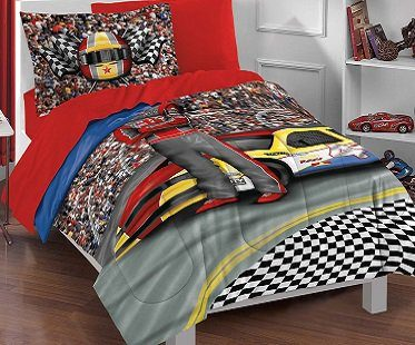 racing driver bedding set kids