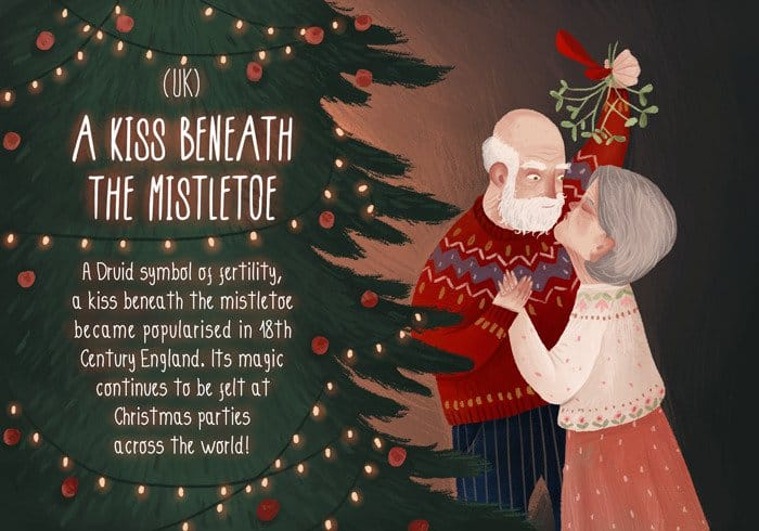 romantic-christmas-traditions-mistletoe