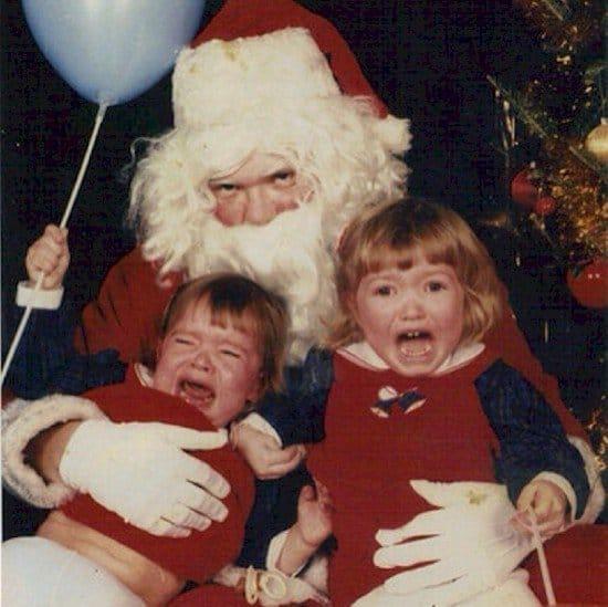 santa balloon kids scream