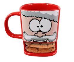 santa biscuit mug