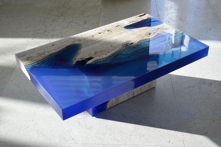 shiny lagoon table