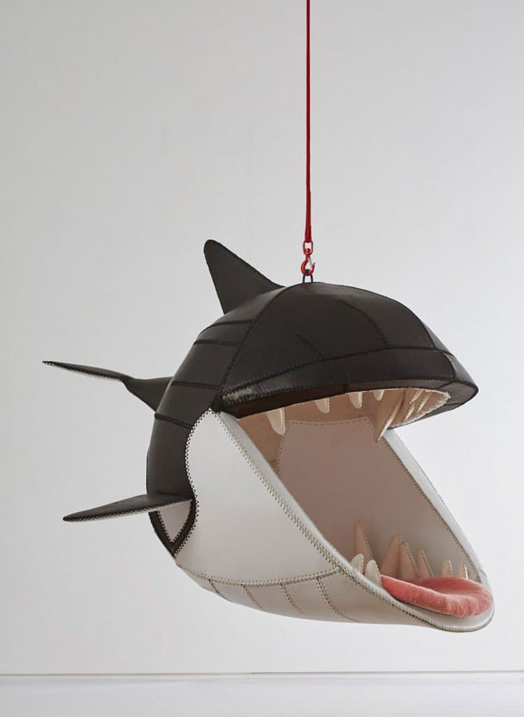 side view whale hanging chair
