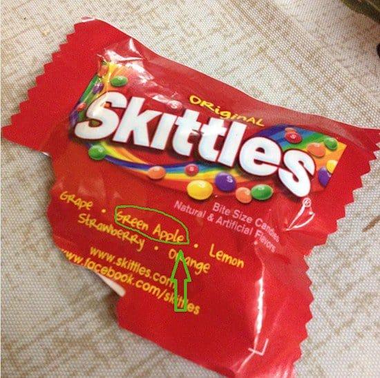 skittles packet