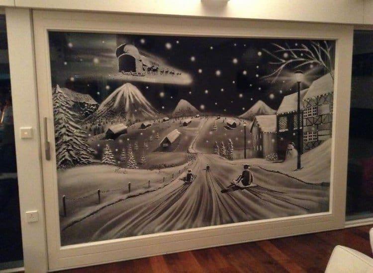 sledging snow art
