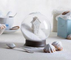 snow globe sugar bowl