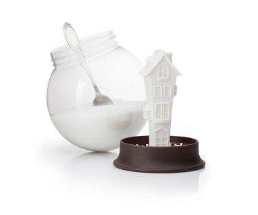snow globe sugar bowl home
