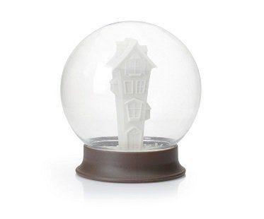 snow globe sugar bowl house