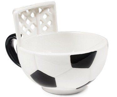 soccer mug with goal