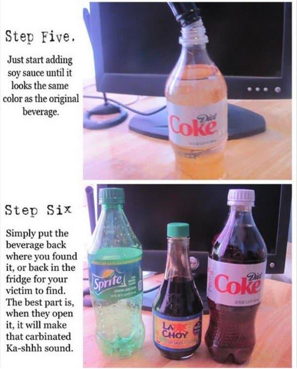 soy coke prank