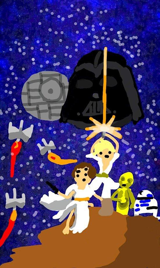 star wars drawing snapchat