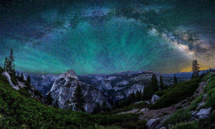 starry sky yosemite
