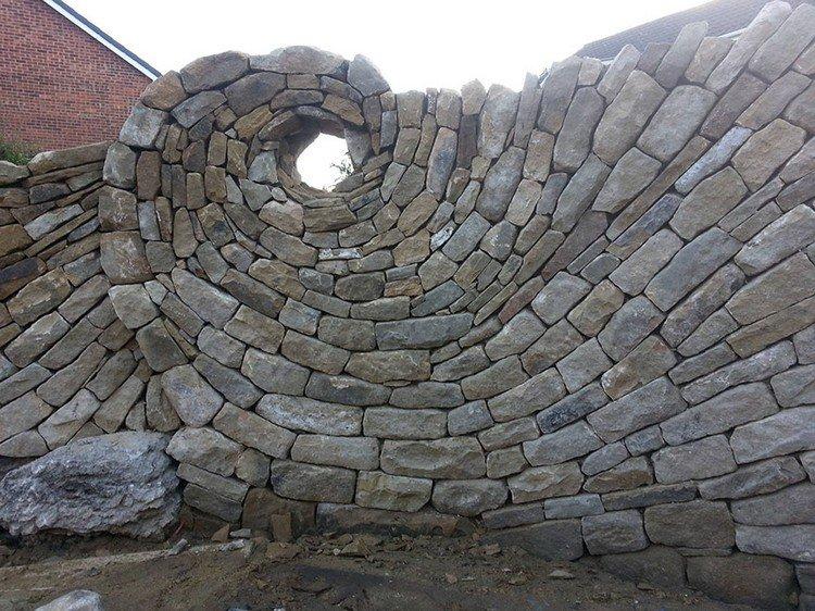 stones circle wall