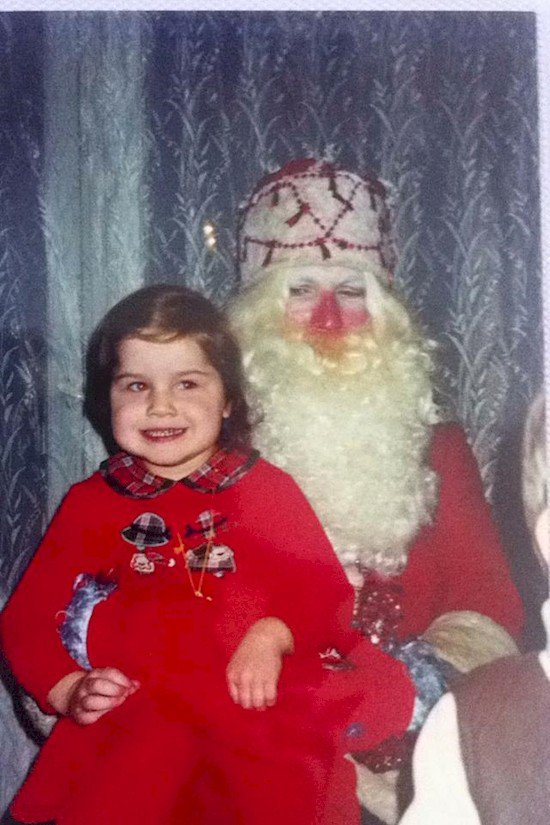 strange santa and kid