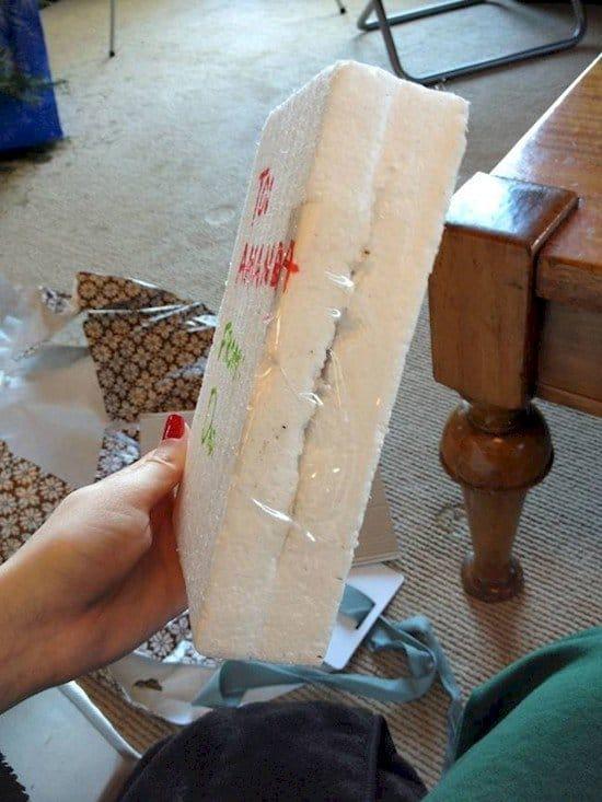 styrofoam parcel