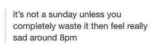 sunday waste