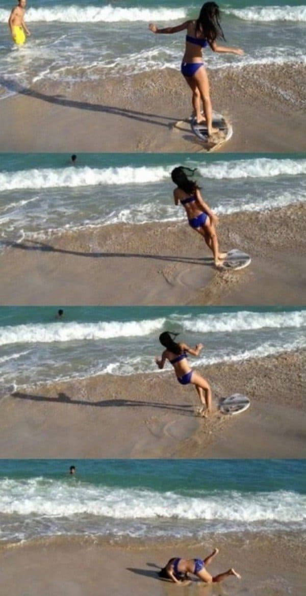 surf girl fail