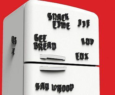 tattoo font fridge magnets