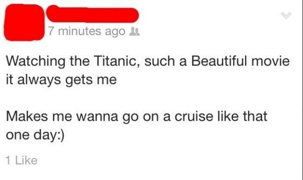 titanic cruise fail