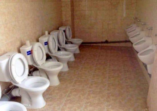 toilets urinals