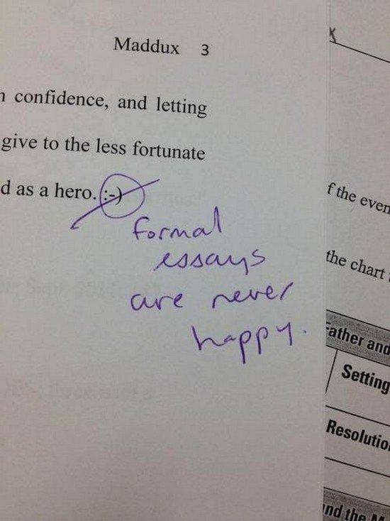unhappy formal essays