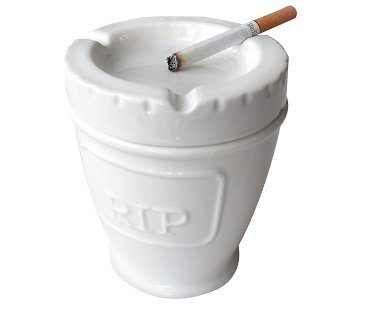 urn ashtray white