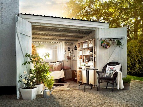 white shed