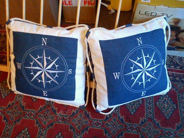 wonky compass cushions