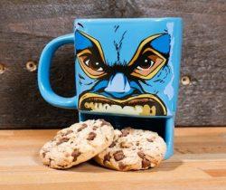 wrestler biscuit mug