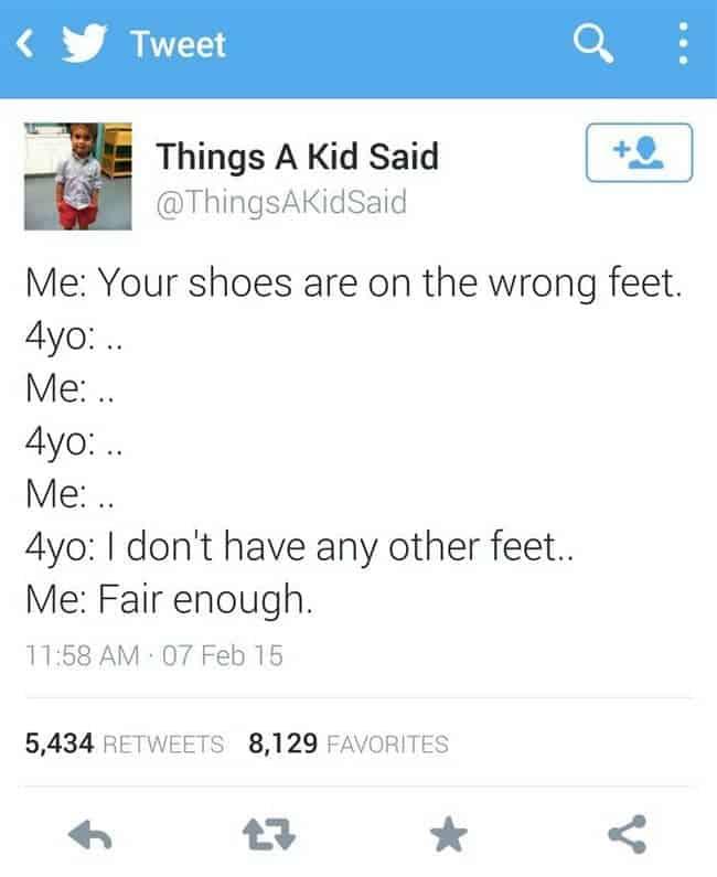 wrong feet