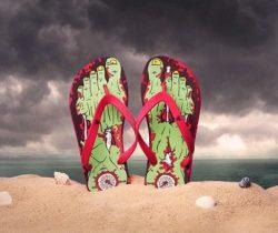 zombie flip flops