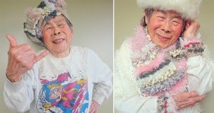 93-Year-Old Grandmother Models Designs