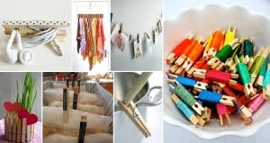 Alternative Uses Wooden Clothing Pegs