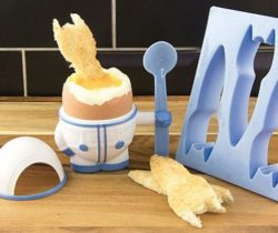 Astronaut Egg Cup And Toast Cutter