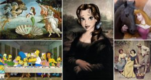 Classical Paintings Reimagined Cartoon Characters