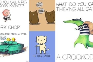 Cute Hilarious Illustrated Pun