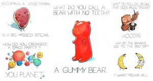 Cute Hilarious Illustrated Puns