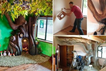 Dad Built Fairytale Treehouse Daughter's Room