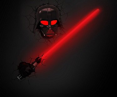 Darth Vader Saber Night Light wall