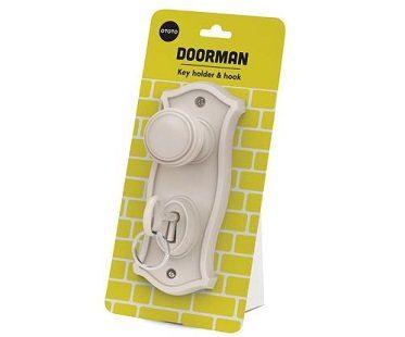 Door Knob Key Holder white pack