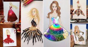 Edgar Artis Creates Layered Fashion Sketches