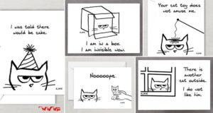 Funky Chic Designs Cards Cat Lovers