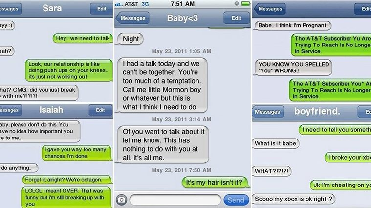Funny Breakup Texts