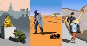 Gunduz Agayev Illustrates World's Strictest Police Forces