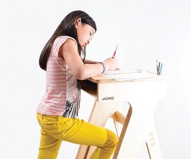 Height Adjustable Standing Desk wooden medium
