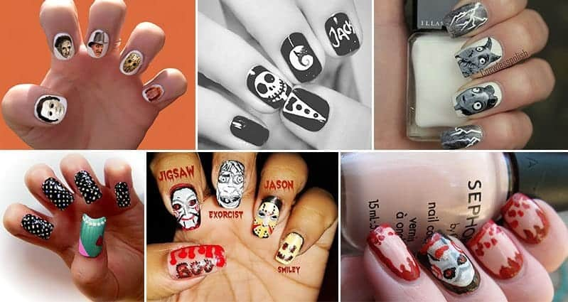 11 Awesome Horror Movie Inspired Nail Art Designs