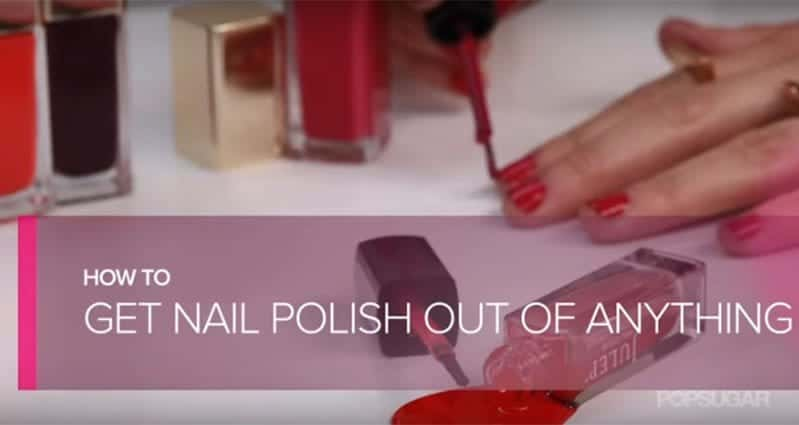 find out how to remove nail polish stains from fabrics and more with this awesome hack. Black Bedroom Furniture Sets. Home Design Ideas