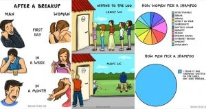 Illustrations Differences Women Men