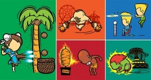 Illustrations Part-Time Jobs Of Street Fighters